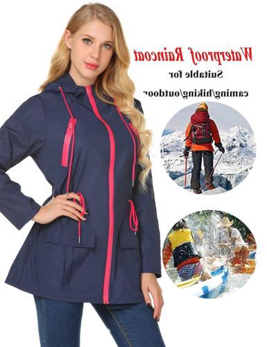 LOMON Raincoat Waterproof Jacket Windbreaker Hooded