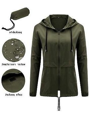 womens raincoat waterproof lightweight hooded outdoor rain