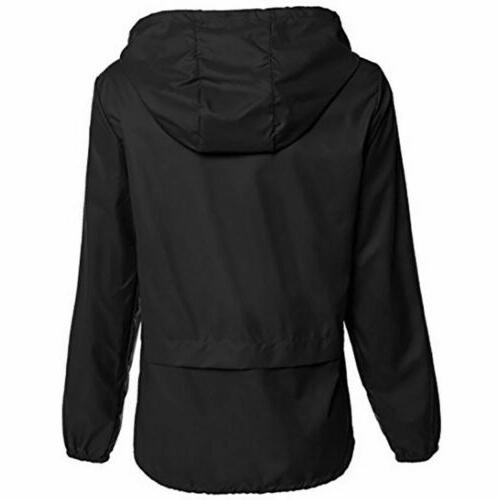Womens Jacket Hooded Rain Coat