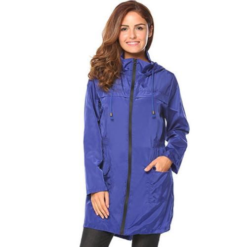 Womens Waterproof Jacket Coat Slim Long For