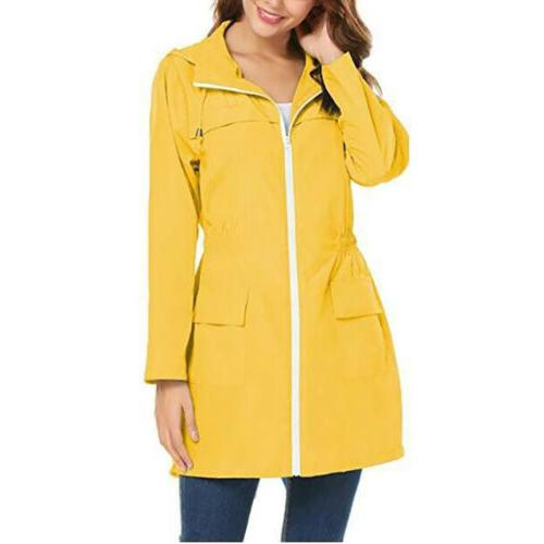 Womens Trench Coat Slim Long Raincoat For Outdoor Rain