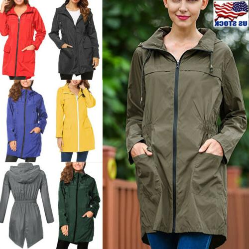 womens waterproof jacket trench coat slim long