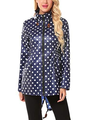 womens waterproof lightweight raincoat hooded outdoor hiking