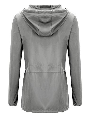 Uniboutique Waterproof Lightweight Outdoor Jacket Light Grey M