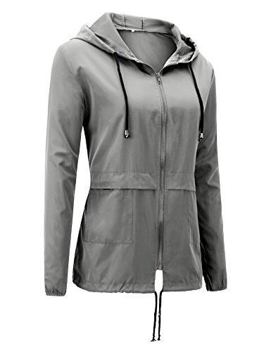 Uniboutique Lightweight Hooded Outdoor Rain Jacket Light
