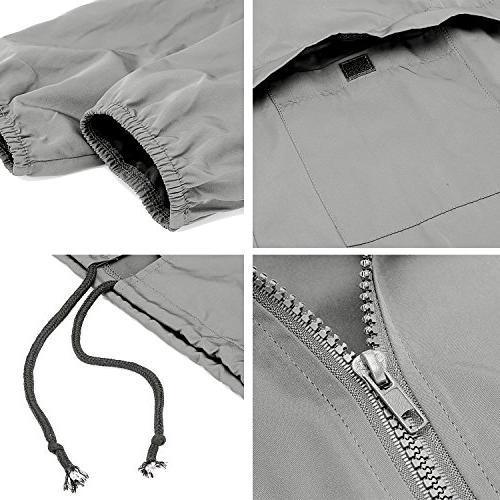 Uniboutique Lightweight Hooded Outdoor Jacket Grey