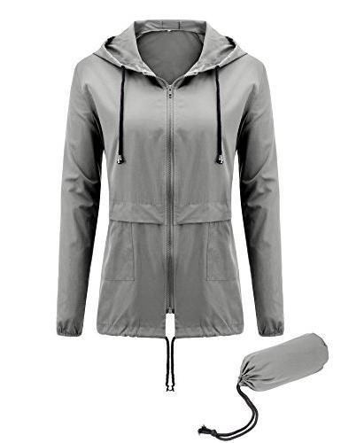 Uniboutique Waterproof Lightweight Jacket Grey