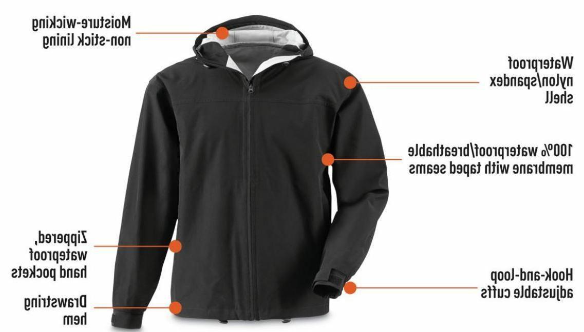 XL 2.5 100% Waterproof Rain Coat Jacket Wind Suit Fishing