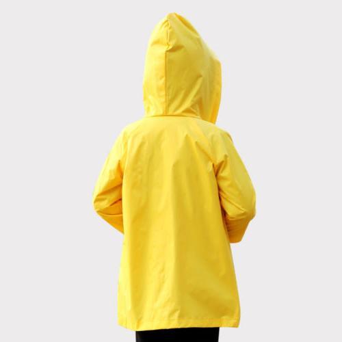 Yellow Girls Hooded Coat Jacket