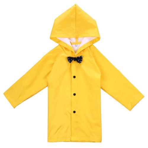 Yellow Kid Girls Hooded Coat Rainwear