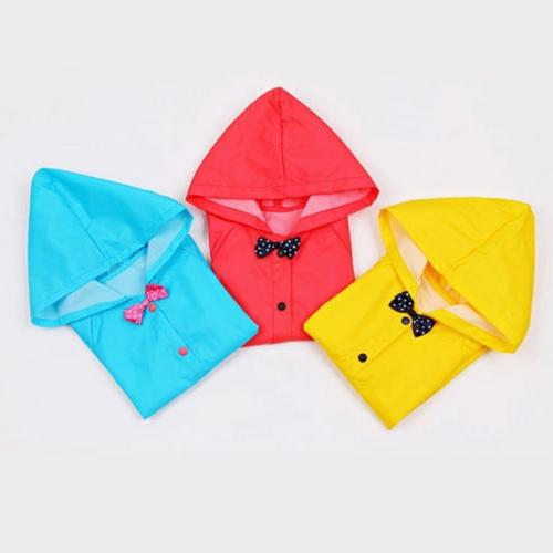 US Stock Blue Children Kid Rain Coat Rainwear Poncho