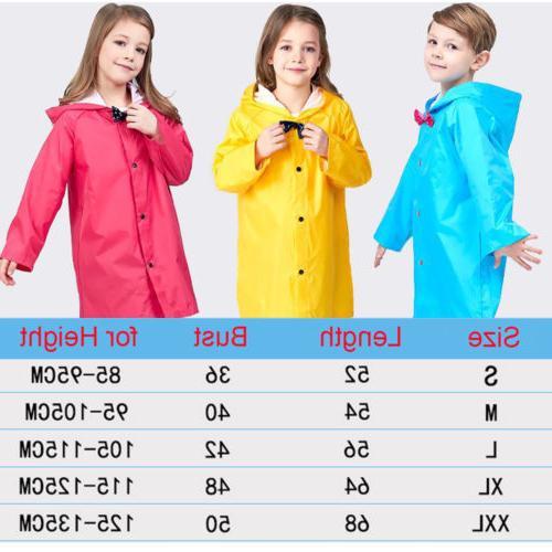 Yellow Girls Hooded Raincoat Coat