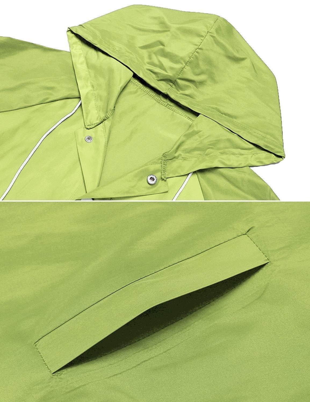 ZHENWEI Rain Jacket Women Waterproof with Outdoor Active