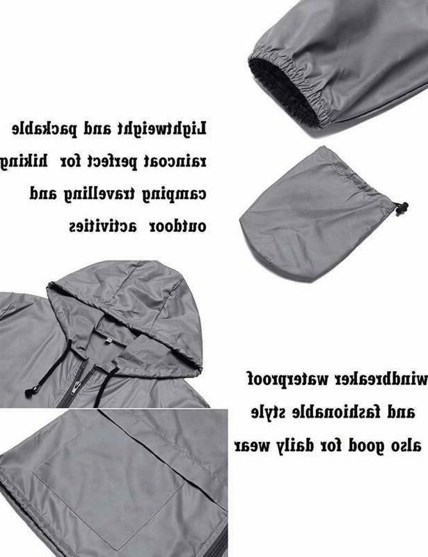 Zhenwei Women Waterproof Windbreaker Outdoor Hooded