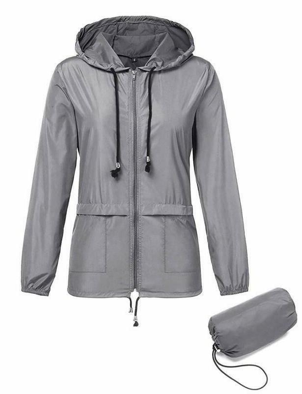 Zhenwei Women Lightweight Jackets Waterproof Windbreaker Pac