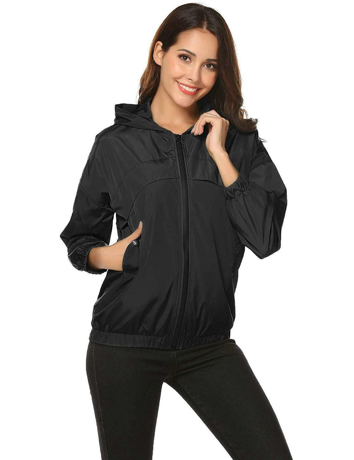 ZHENWEI Women's Lightweight Jacket Rain Coats