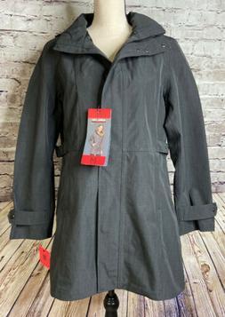 Kirkland Signature Ladies Trench Rain Coat Charcoal S or M o