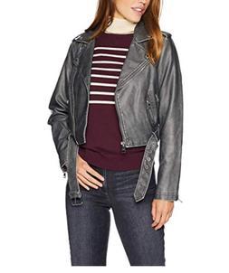 levi s women s faux leather asymmetrical