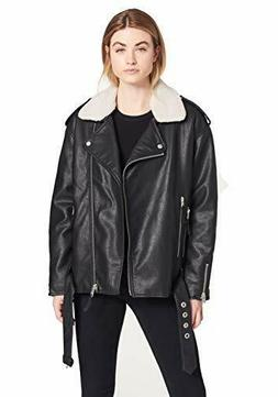 Levi's Women's Faux Leather Oversized Sherpa Lined Motorcycl