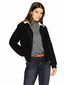 Levi's Women's Faux Leather Sherpa Aviator Bomber Jacket - C