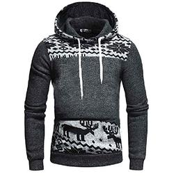 WUAI Men's Lightweight Jacket Hoodie Casual Sweatshirt Slim
