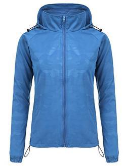 FISOUL Women's Lightweight Jacket Packable Running Windbreak