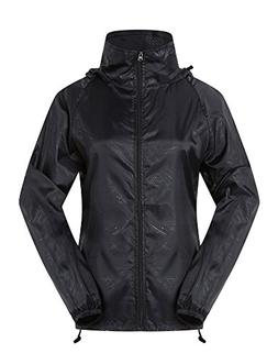 Cheering Women's Lightweight Jackets Women Waterproof Windbr