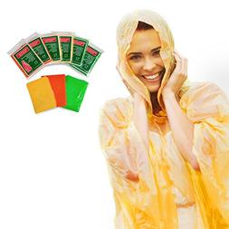 Always Prepared Lightweight Rain Ponchos with Hood  Disposab