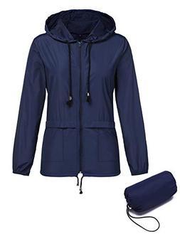 ZHENWEI Lightweight Raincoats for Women Waterproof Windbreak