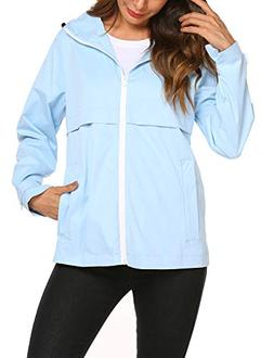 Hount Womens Lightweight Waterproof Rain Jacket Active Outdo