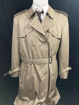 STAFFORD Long RAINCOAT Rain Trench Coat Mens XL 46L XLT Beig