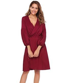 ANGVNS Women's Long Sleeve Wrap Rain Coat