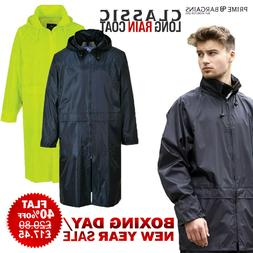 Portwest Men Adult Waterproof Classic Long Rain Coat Workwea