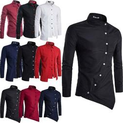 Men  Dress Up Shirt Slim Fit Luxury Long Sleeve Casual Forma