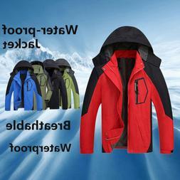 Men Jacket Windproof Waterproof Zip Lightweight Rain Coat Ou