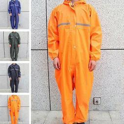 Men Motorcycle Rain Suit Raincoat Overalls Waterproof Work J