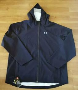 Under Armour Men's 4XL Black Full Zip Waterproof Rain Jacket