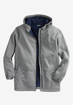 KingSize Men's Big & Tall Fleece-Lined Rain Coat Raincoat