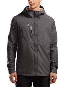 Paradox Men's Black Waterproof Hooded Lightweight Rain Jacke