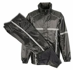 men s black waterproof rain suit w