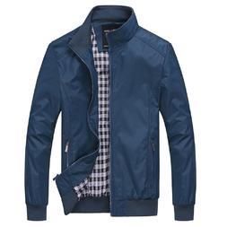 Men's Casual Windbreaker Jacket  Active Rain Coat Bomber Jac