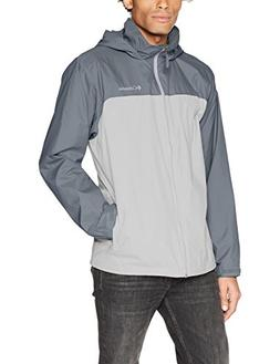 Columbia Men's Glennaker Lake Lined Rain Jacket, Grey, Graph
