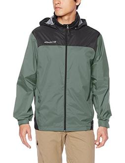 Columbia Men's Glennaker Lake Rain Jacket, Pond/Grill, Small