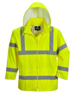 Portwest Men's Hi-Vis Rain Jacket, Yellow, X-Large