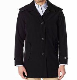 Tommy Hilfiger Men's Hooded Rain Trench Jacket Water/Wind Re