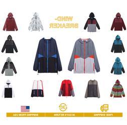men s lightweight windbreaker hood jacket raincoat