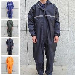 Men's Motorcycle Rain Work Outdoor Suit Raincoat Overalls Wa