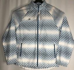 LACOSTE Men's Rain Coat Size:M/50 Color:White & Blue  NEW ta
