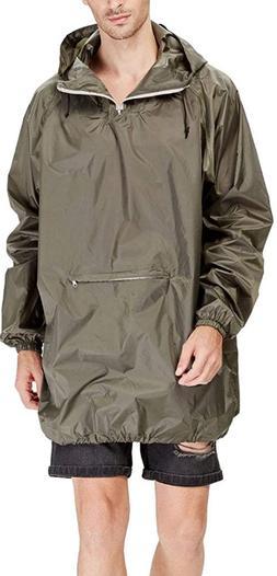 Men's Raincoat Easy Carry Wind Rain Jacket Poncho Coat Outdo