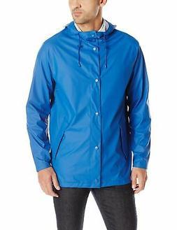 Cole Haan Men's Rubberized Hooded Jacket, Blue, Sm - Choose